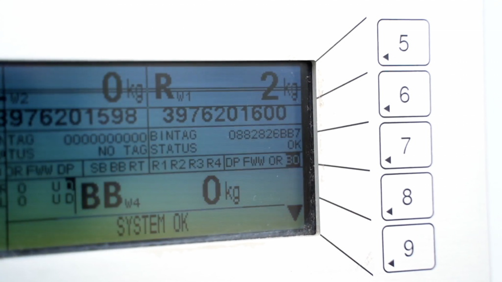 Allied Recycling panel showing RFID scan